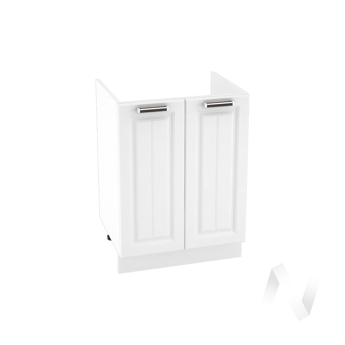"""Кухня """"Прага"""": Шкаф нижний под мойку 600, ШНМ 600 новый (белое дерево/корпус белый)"""