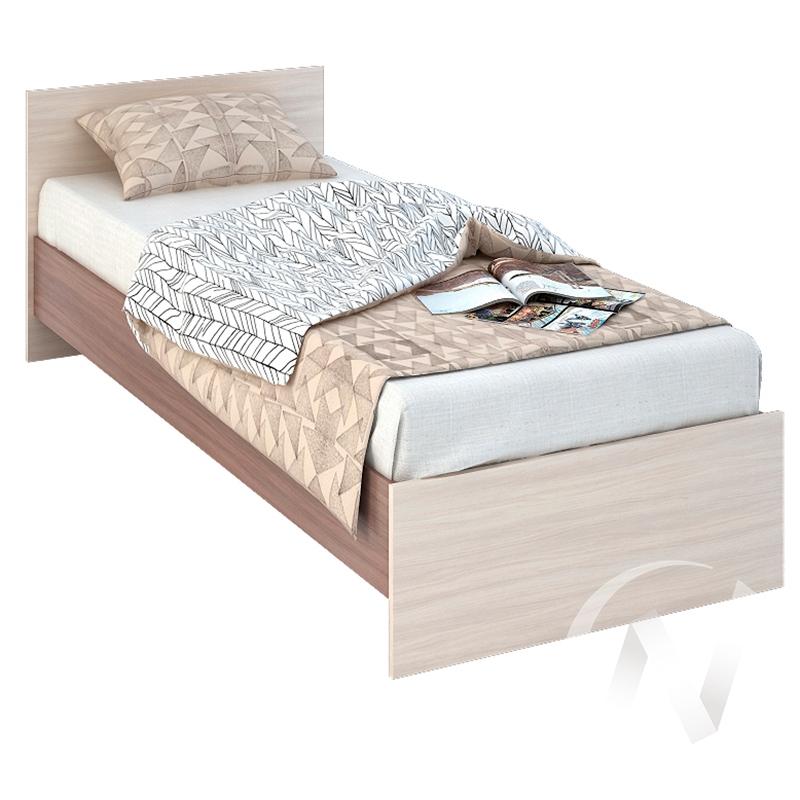 Бася Кровать 0,8  ЛДСП(ясень шимо темный/ясень шимо светлый) КР 554