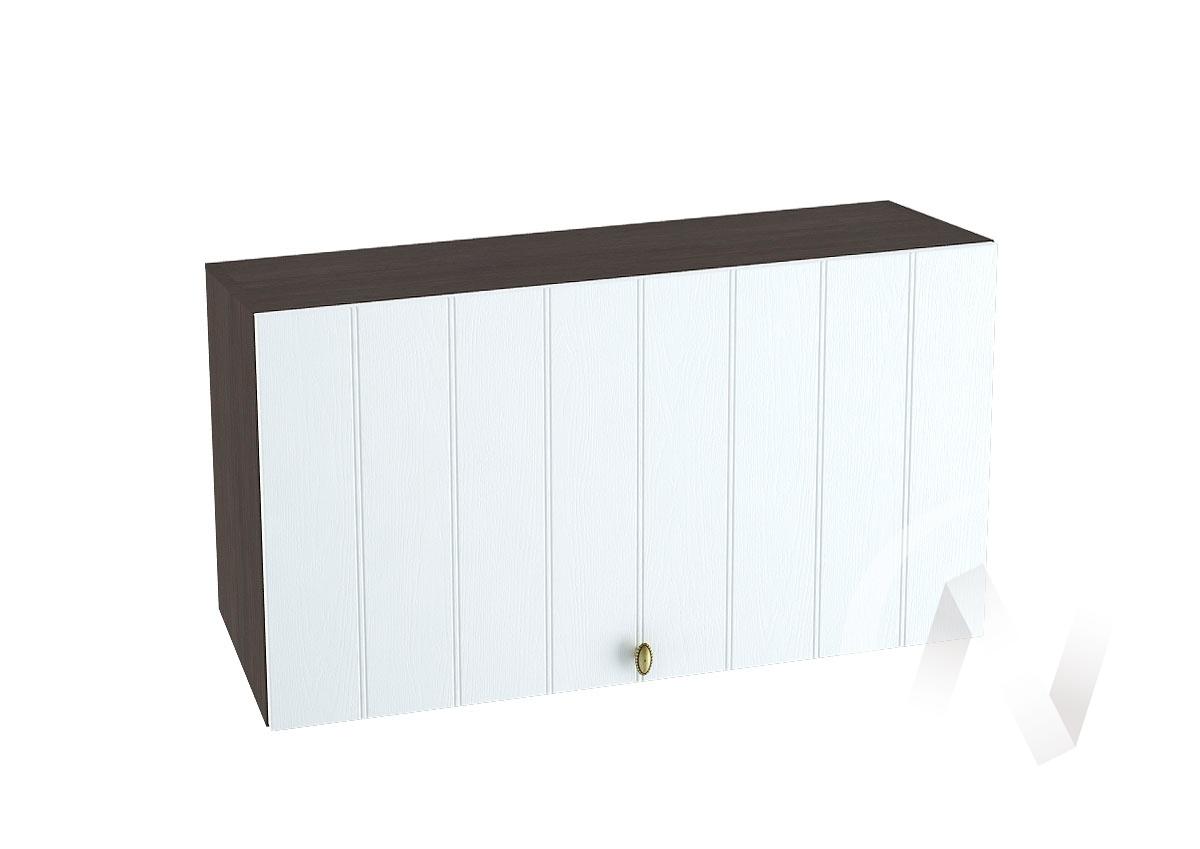 """Кухня """"Прованс"""": Шкаф верхний горизонтальный 809, ШВГ 809 (белое дерево/корпус венге)"""
