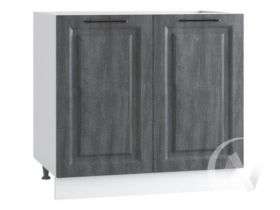 """Кухня """"Либерти"""": Шкаф нижний под мойку 800, ШНМ 800 (Холст грей/корпус белый)"""