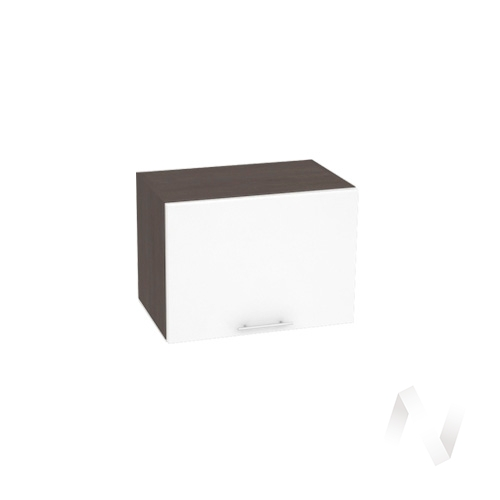 """Кухня """"Валерия-М"""": Шкаф верхний горизонтальный 500, ШВГ 500 (белый глянец/корпус венге)"""