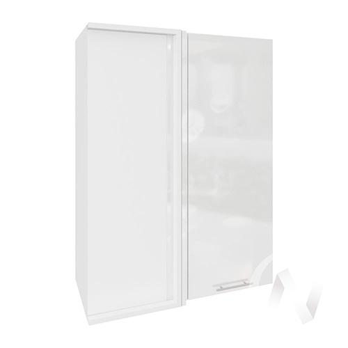 """Кухня """"Валерия-М"""": Шкаф верхний угловой 699, ШВУ 699 (белый глянец/корпус белый)"""