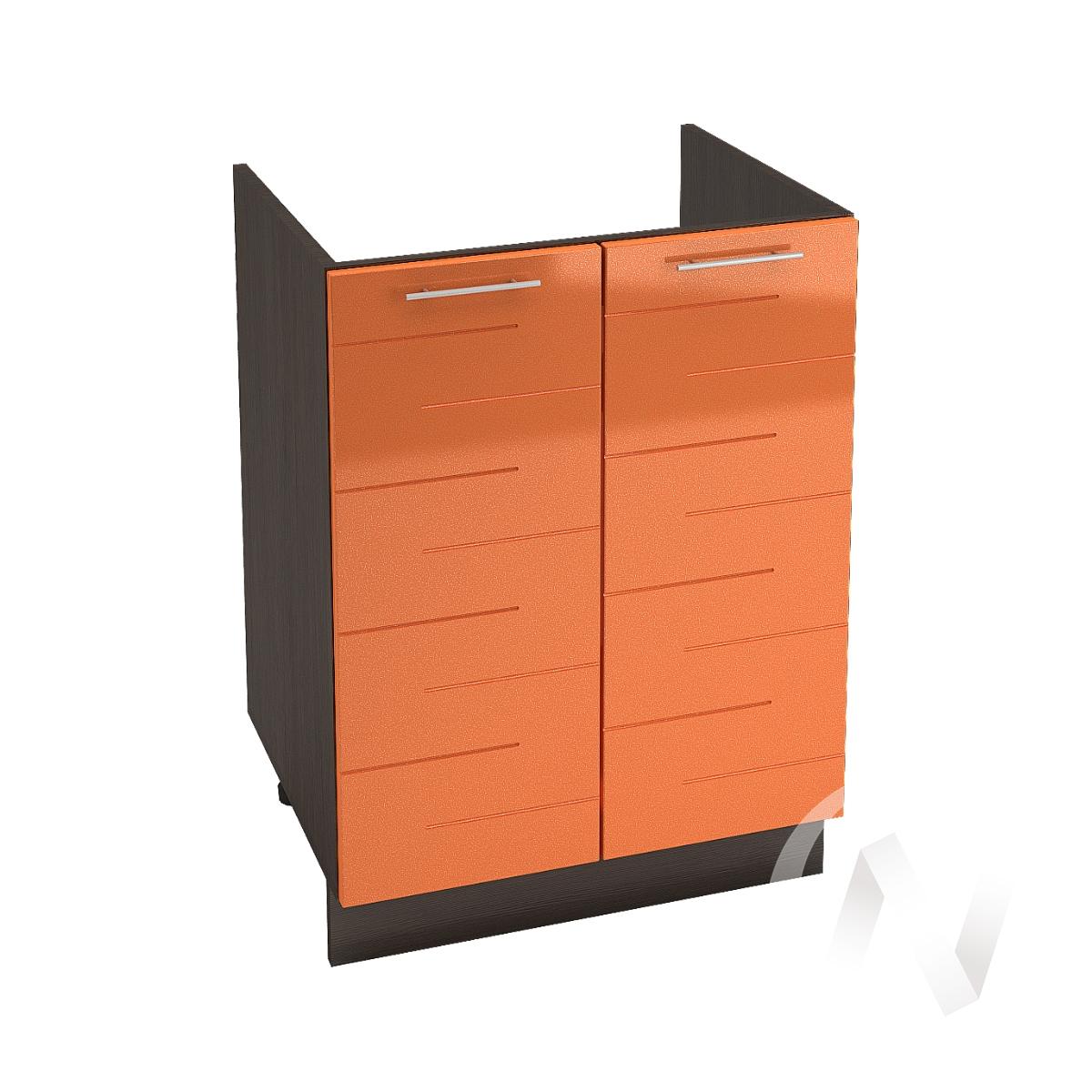 "Кухня ""Техно"": Шкаф нижний под мойку 600, ШНМ 600 новый (корпус венге)"
