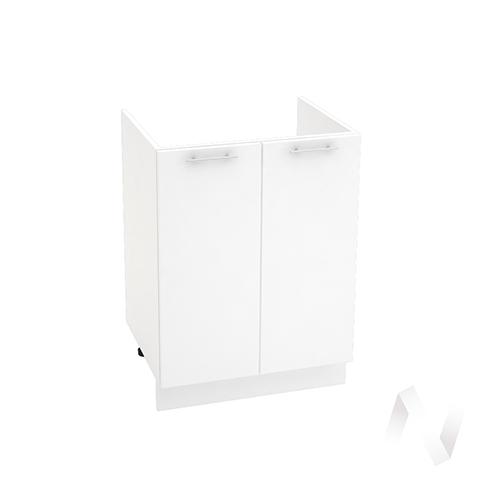 "Кухня ""Валерия-М"": Шкаф нижний под мойку 600, ШНМ 600 новый (белый глянец/корпус белый)"
