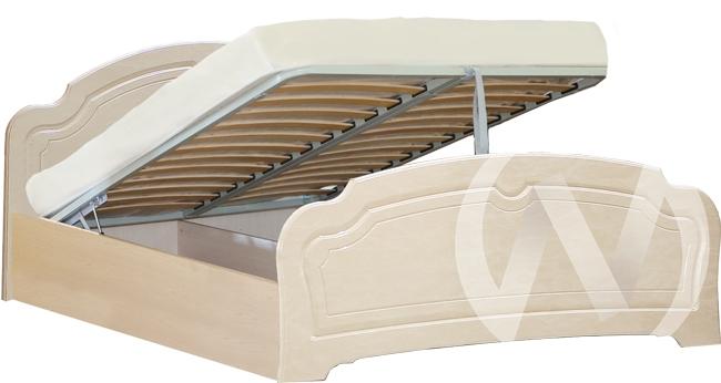 Валенсия Кровать №1 1,6 с подъемным механизмом (бодега бежевый/клён)