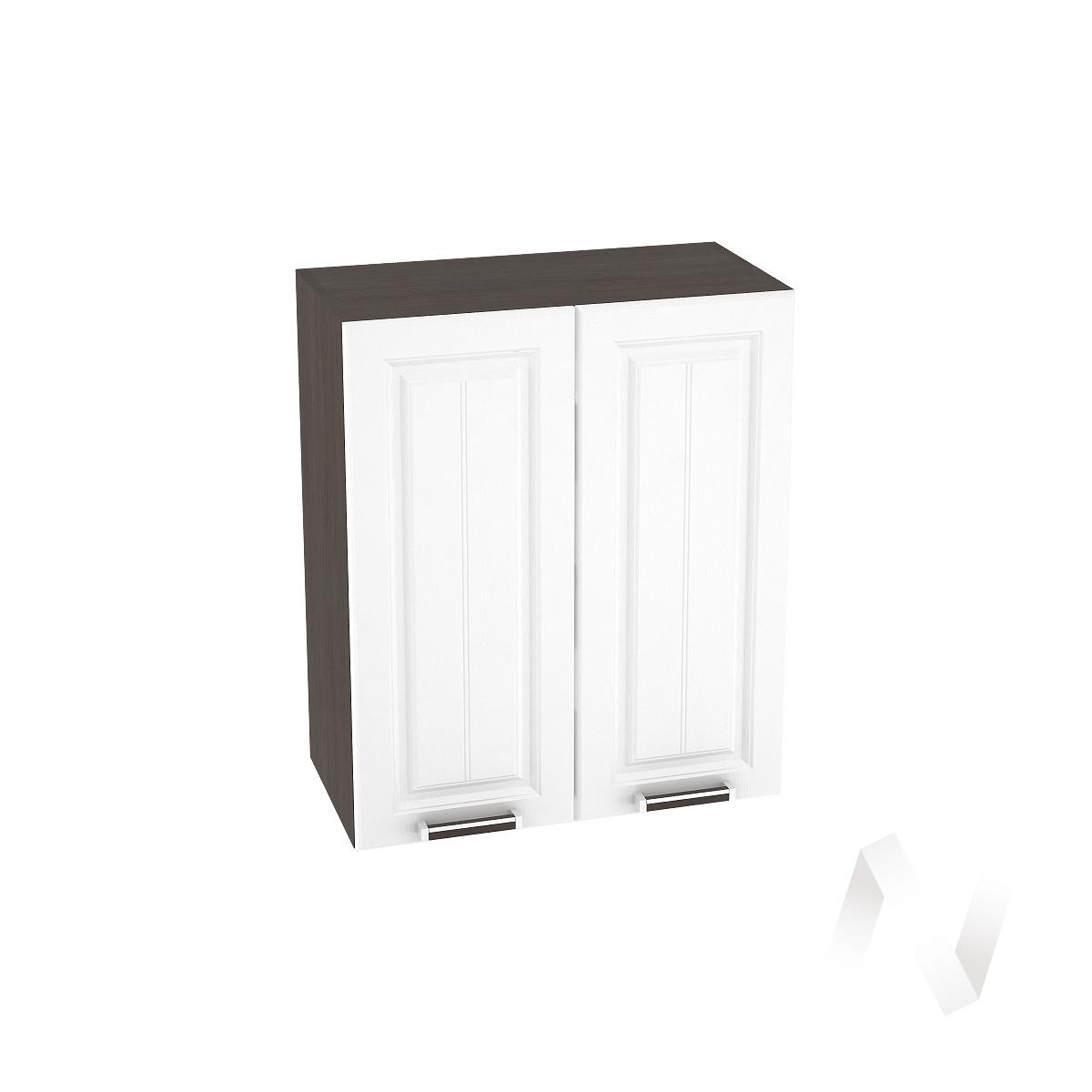 """Кухня """"Прага"""": Шкаф верхний 600, ШВ 600 новый (белое дерево/корпус венге)"""