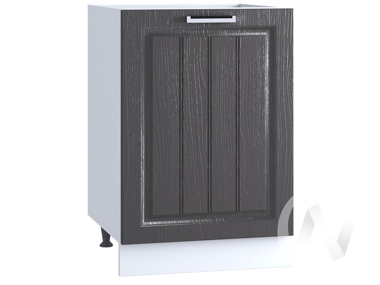"Кухня ""Луксор"": Шкаф нижний под мойку 500, ШНМ 500 (Клен серый/корпус белый)"