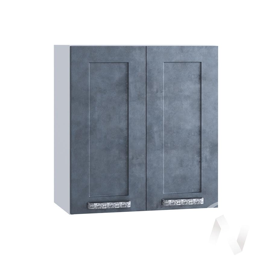 """Кухня """"Лофт"""": Шкаф верхний 600, ШВ 600 новый (Бетон графит/корпус белый)"""