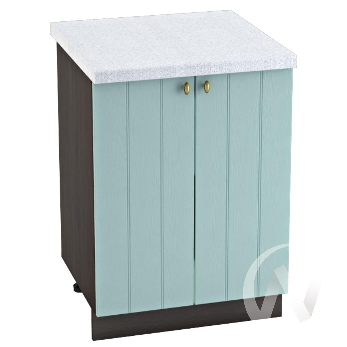 """Кухня """"Прованс"""": Шкаф нижний 600, ШН 600 новый (голубой/корпус венге)"""