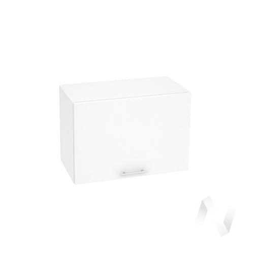 """Кухня """"Валерия-М"""": Шкаф верхний горизонтальный 609, ШВГ 609 (белый глянец/корпус белый)"""