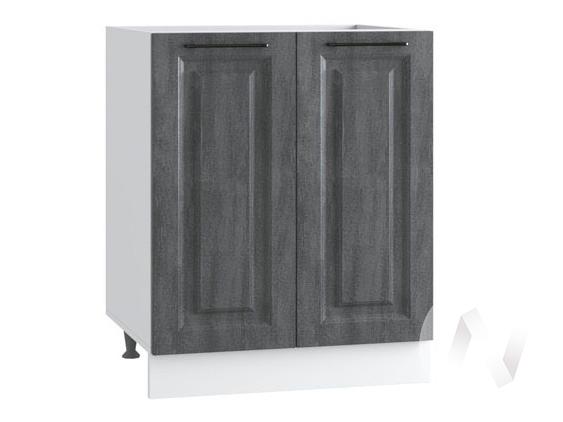 """Кухня """"Либерти"""": Шкаф нижний под мойку 600, ШНМ 600 (Холст грей/корпус белый)"""