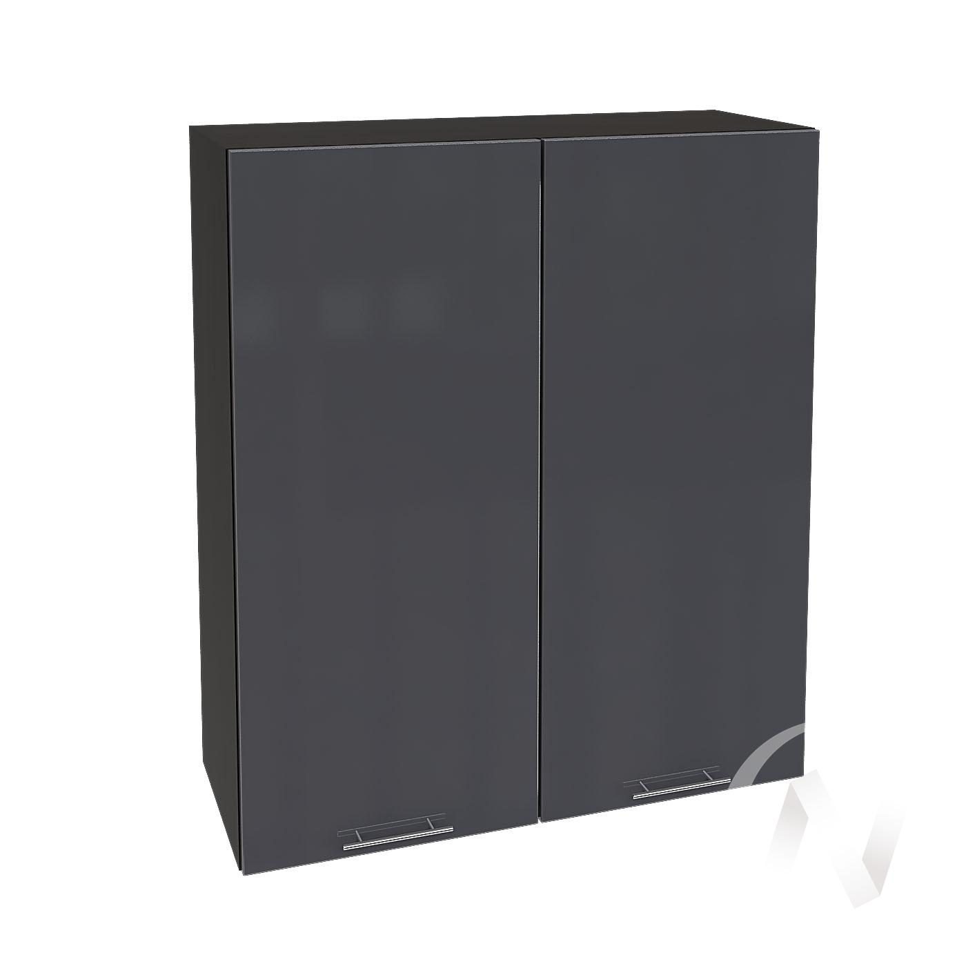 """Кухня """"Валерия-М"""": Шкаф верхний 809, ШВ 809 новый (Антрацит глянец/корпус венге)"""
