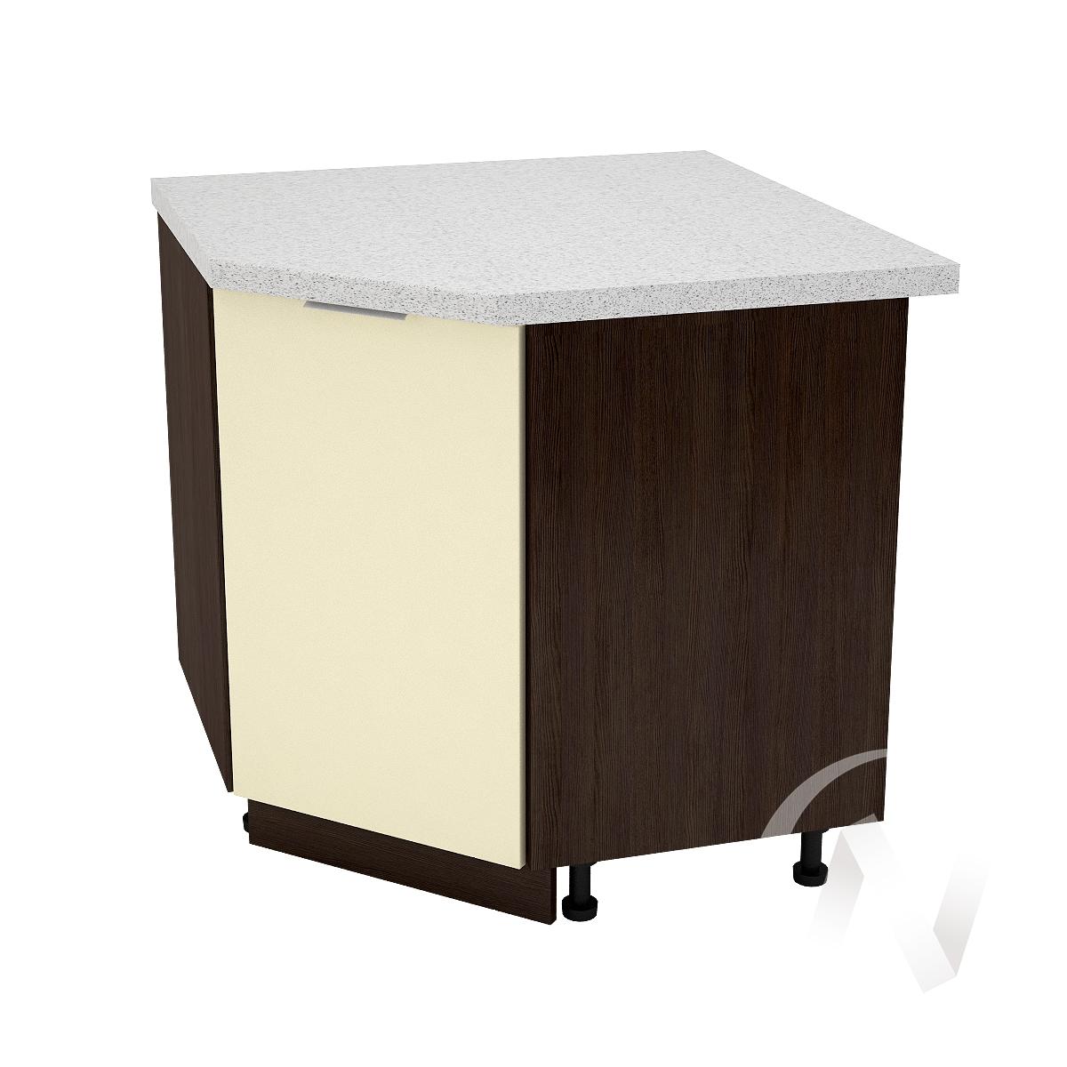 """Кухня """"Терра"""": Шкаф нижний угловой 890, ШНУ 890 (ваниль софт/корпус венге)"""