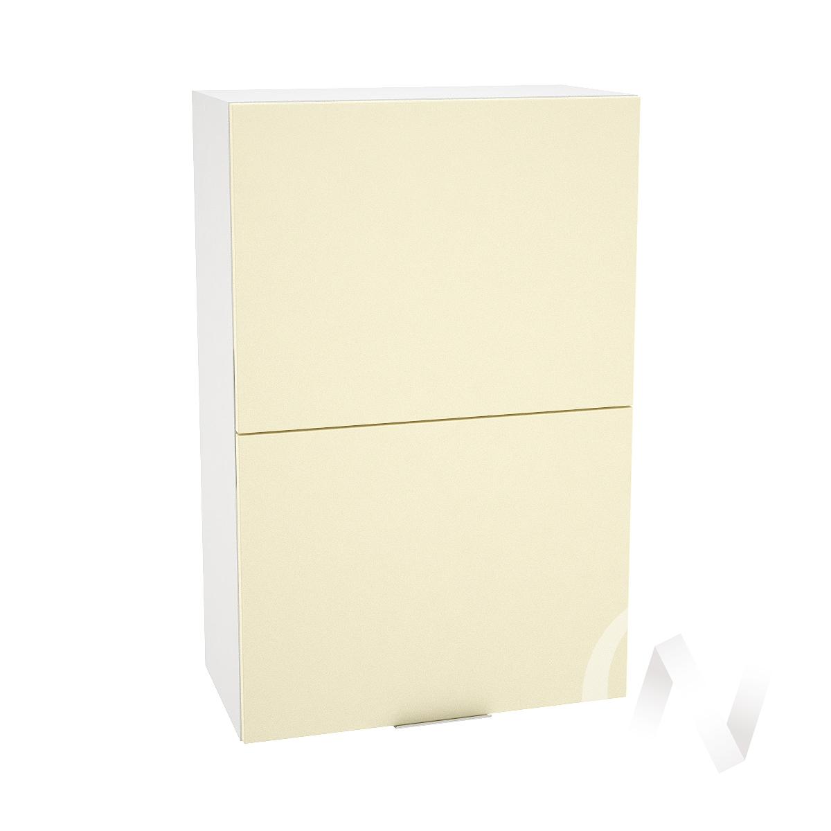 """Кухня """"Терра"""": Шкаф верхний горизонтальный 602, ШВГ 602 (ваниль софт/корпус белый)"""
