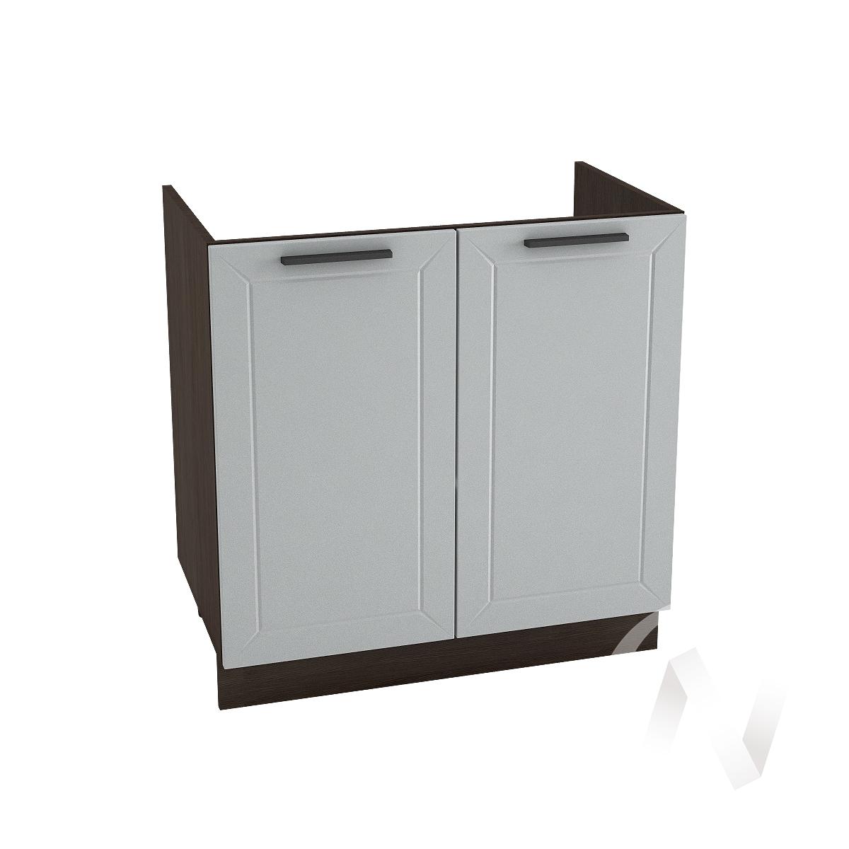 """Кухня """"Глетчер"""": Шкаф нижний под мойку 800, ШНМ 800 новый (Гейнсборо Силк/корпус венге)"""