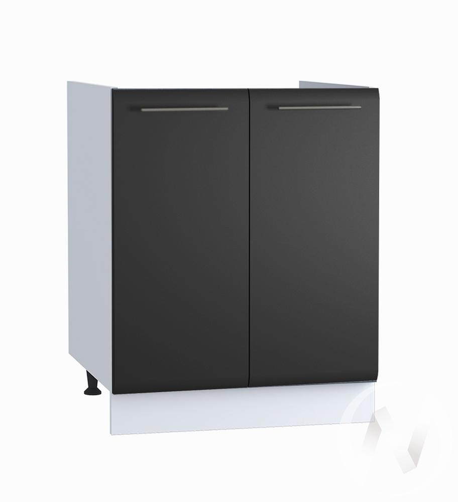 """Кухня """"Люкс"""": Шкаф нижний под мойку 600, ШНМ 600 новый (Шелк венге/корпус белый)"""