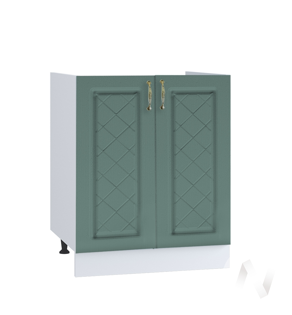 """Кухня """"Селена"""": Шкаф нижний под мойку 600, ШНМ 600 новый (Дуб бирюзовый/корпус белый)"""