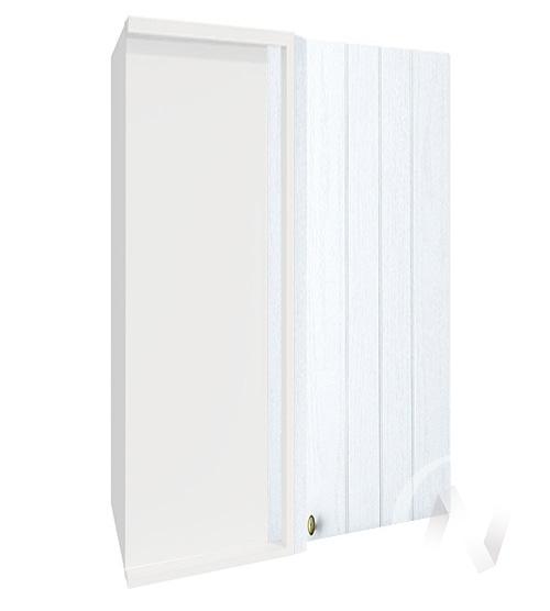 """Кухня """"Прованс"""": Шкаф верхний угловой 699, ШВУ 699 (белое дерево/корпус белый)"""