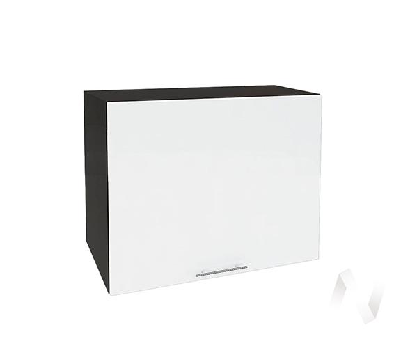 """Кухня """"Валерия-М"""": Шкаф верхний горизонтальный 609, ШВГ 609 (белый глянец/корпус венге)"""