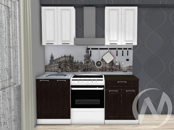 """Кухня """"Прага"""" 1,2м (венге/белое дерево/корпус белый)"""