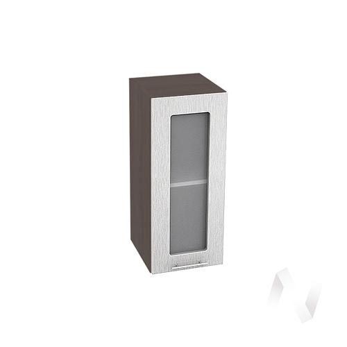 """Кухня """"Валерия-М"""": Шкаф верхний 300, ШВС 300 (дождь серый/корпус венге)"""