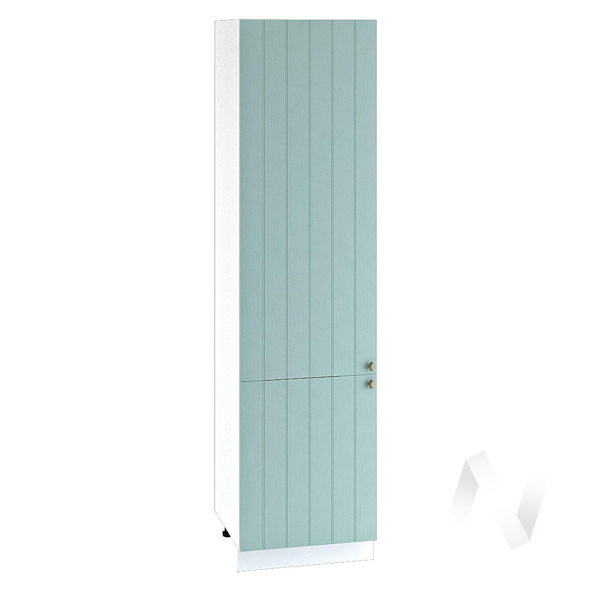"Кухня ""Прованс"": Шкаф пенал 600, ШП 600НМ (голубой/корпус белый)"