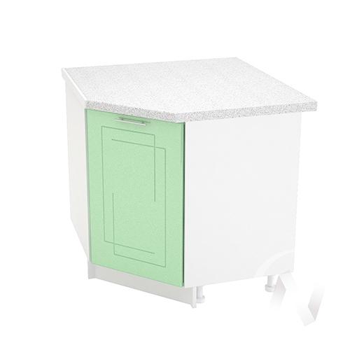 """Кухня """"Вега"""": Шкаф нижний угловой 890, ШНУ 890 (салатовый металлик/корпус белый)"""