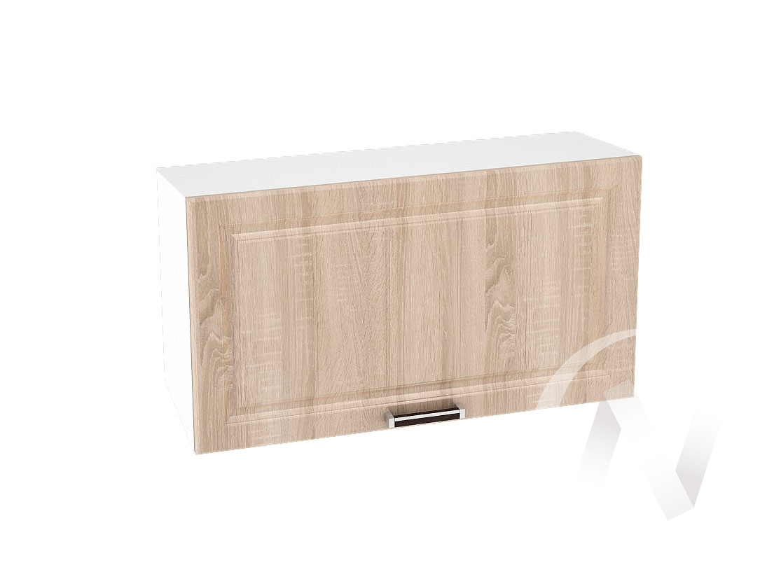 "Кухня ""Прага"": Шкаф верхний горизонтальный 809, ШВГ 809 (дуб сонома/корпус белый)"