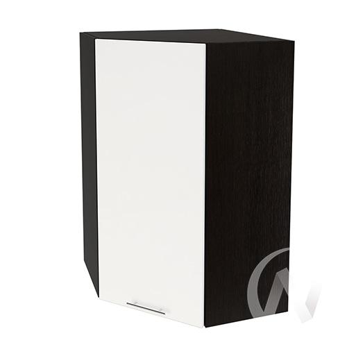 """Кухня """"Валерия-М"""": Шкаф верхний угловой 599, ШВУ 599 (белый глянец/корпус венге)"""