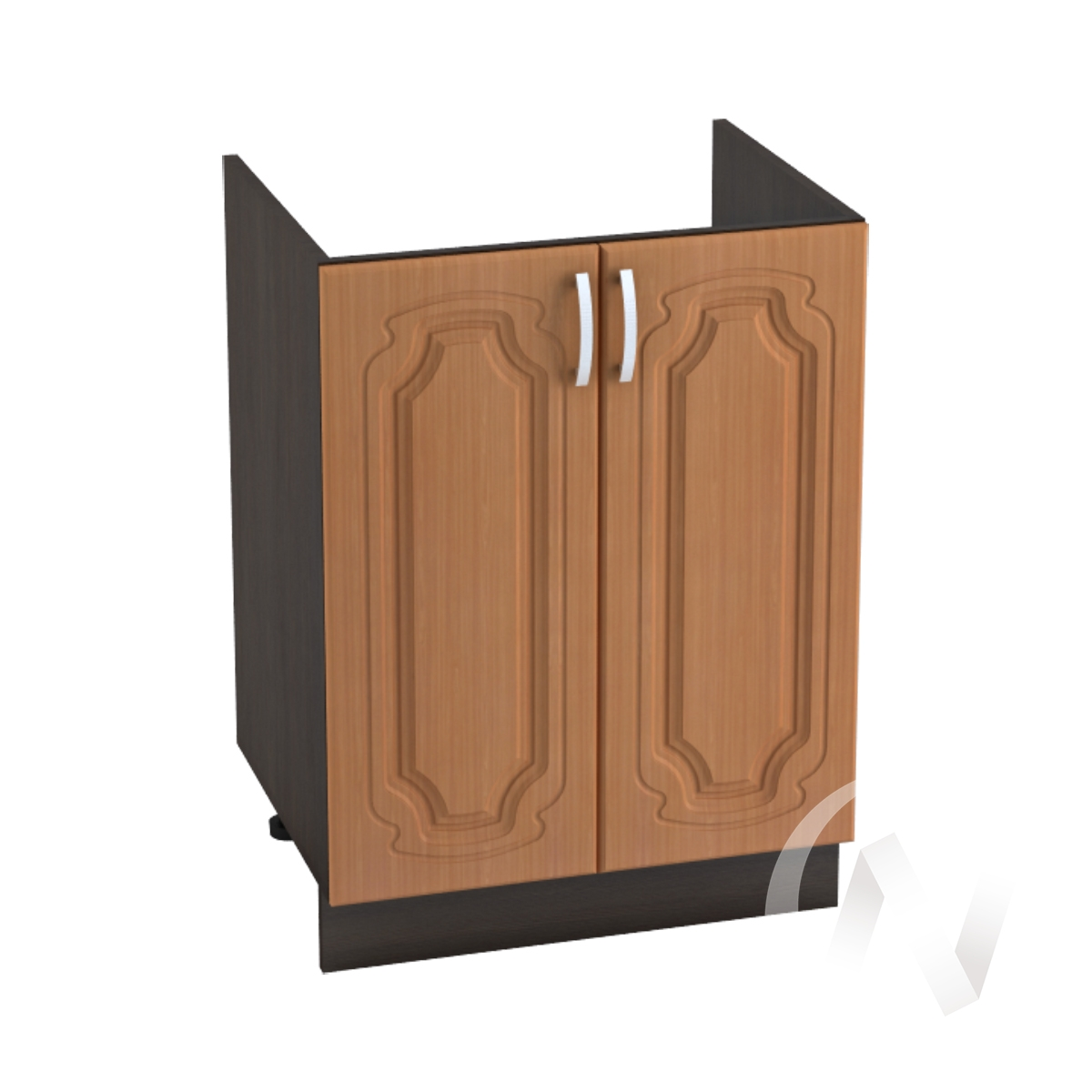 """Кухня """"Настя"""": Шкаф нижний под мойку 600, ШНМ 600 новый (Орех миланский/корпус венге)"""