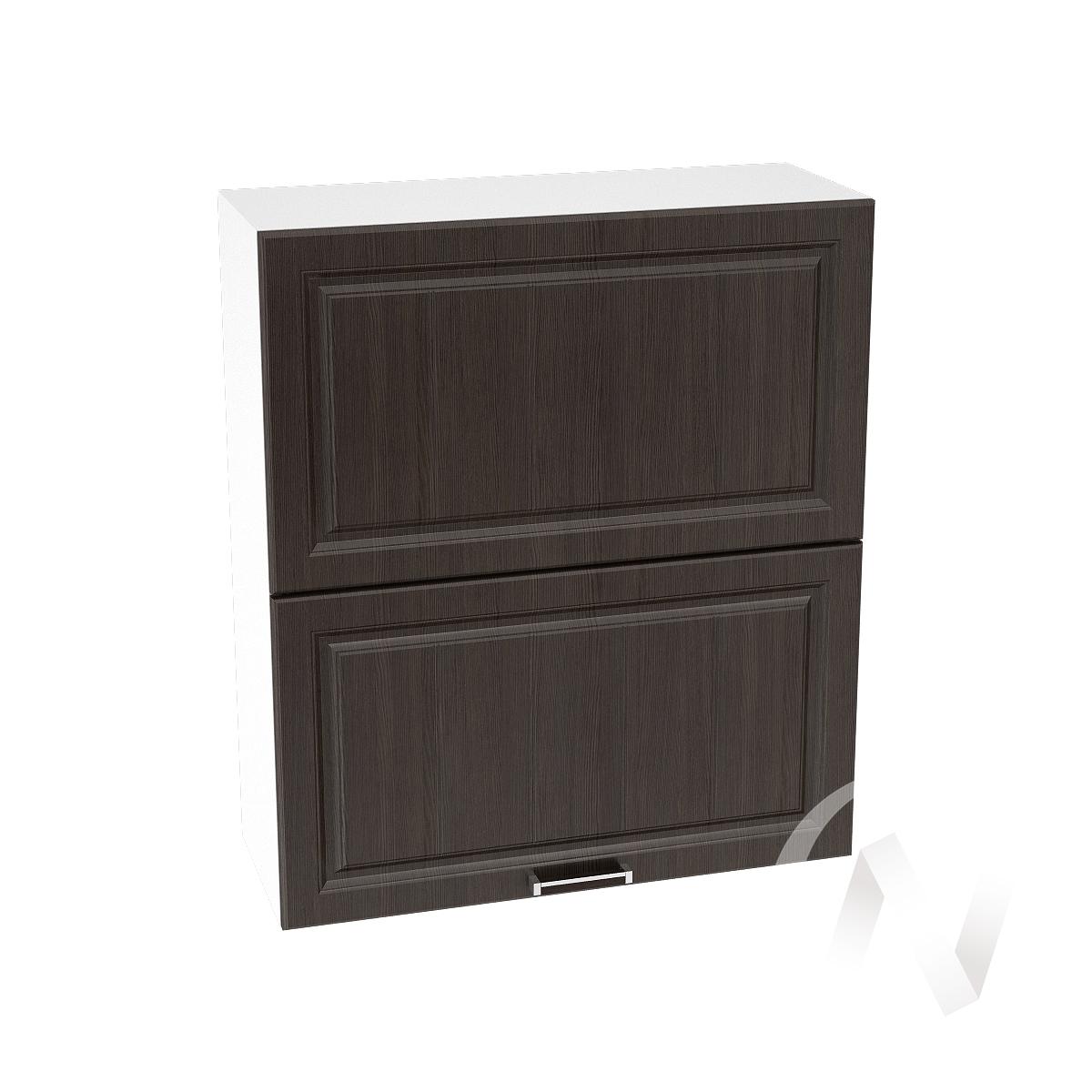 """Кухня """"Прага"""": Шкаф верхний горизонтальный 802, ШВГ 802 (венге/корпус белый)"""