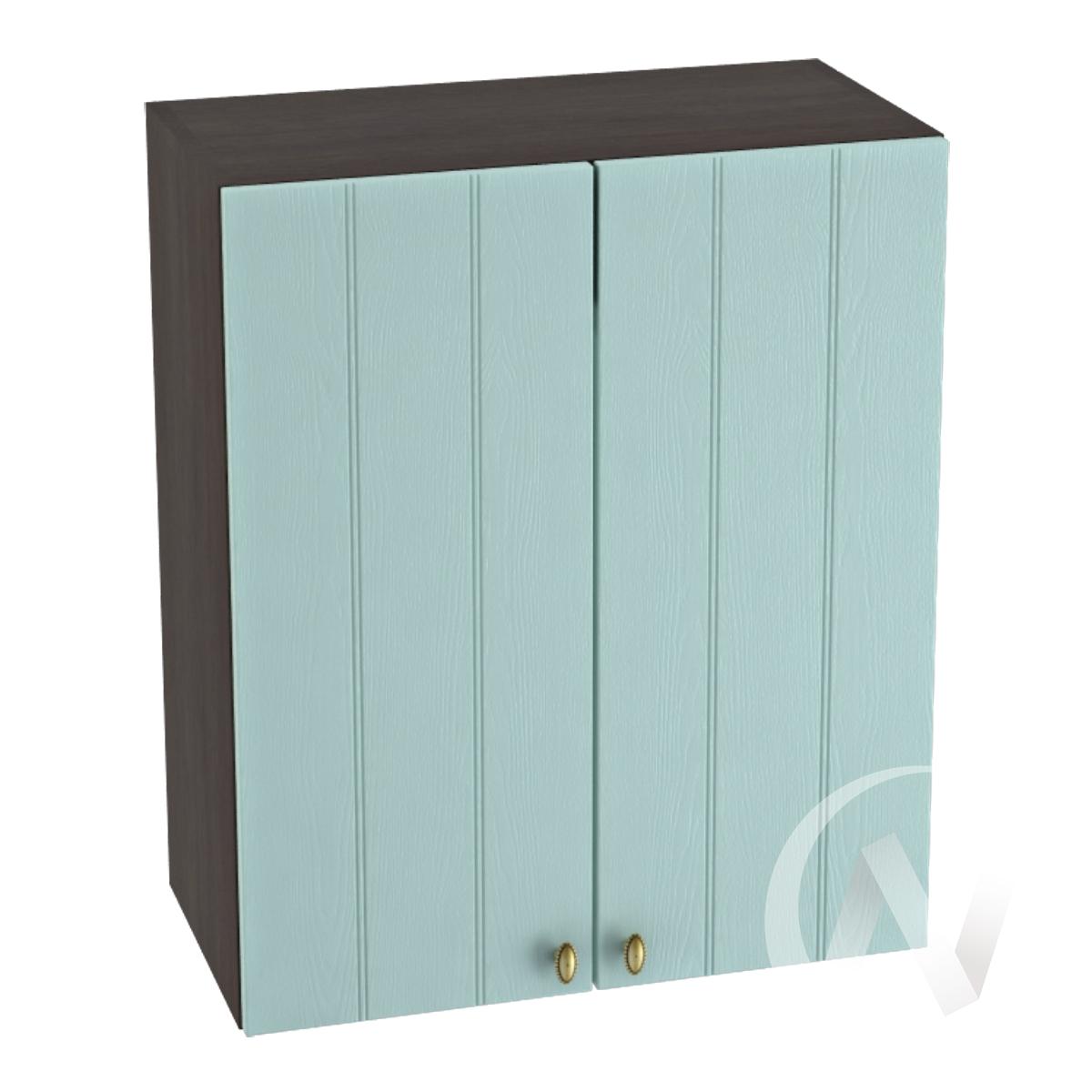 """Кухня """"Прованс"""": Шкаф верхний 600, ШВ 600 новый (голубой/корпус венге)"""