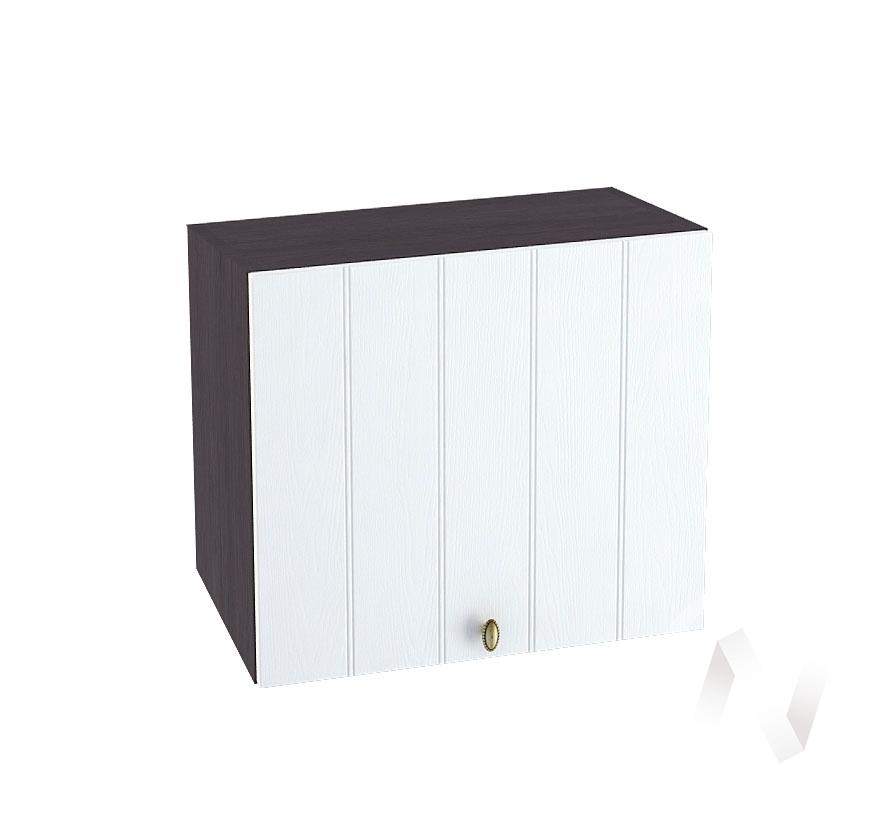 """Кухня """"Прованс"""": Шкаф верхний горизонтальный 509, ШВГ 509 (белое дерево/корпус венге)"""