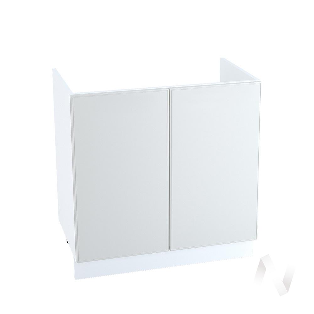 """Кухня """"Мемфис"""": Шкаф нижний под мойку 800, ШНМ 800 (атласный серый/корпус белый)"""