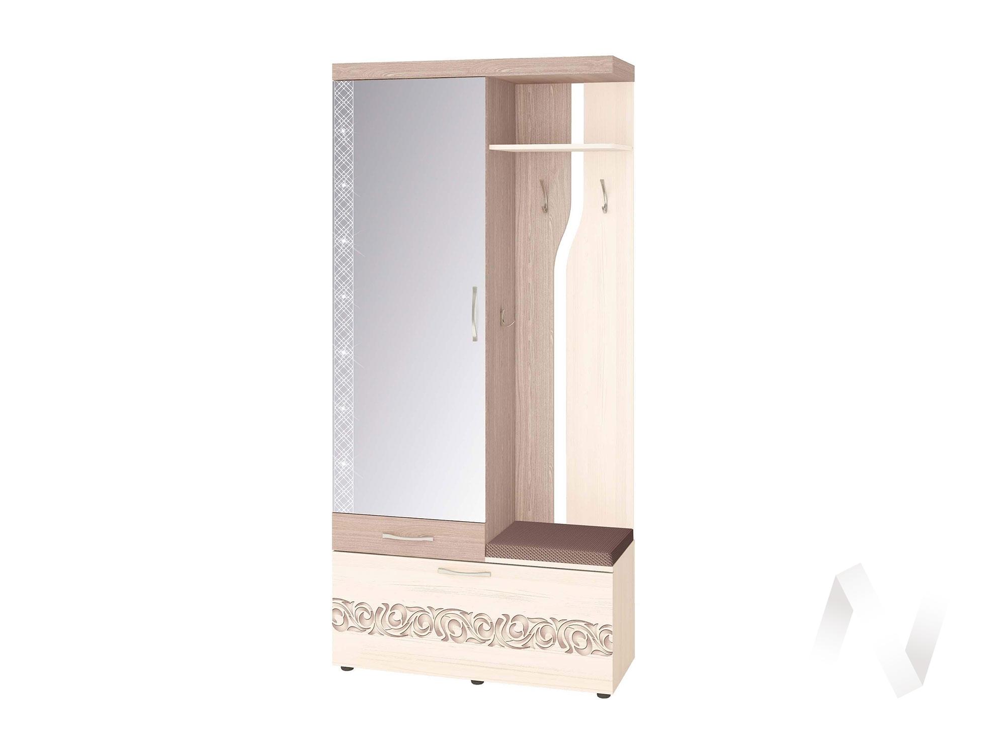 """Панель с крючками и зеркалом (Левый/Правый) """"Мэри"""" 39.07.2"""