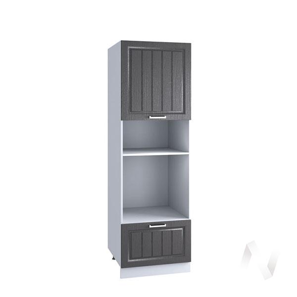 "Кухня ""Луксор"": Шкаф пенал 606М, ШП 606М (Клен серый/корпус белый)"