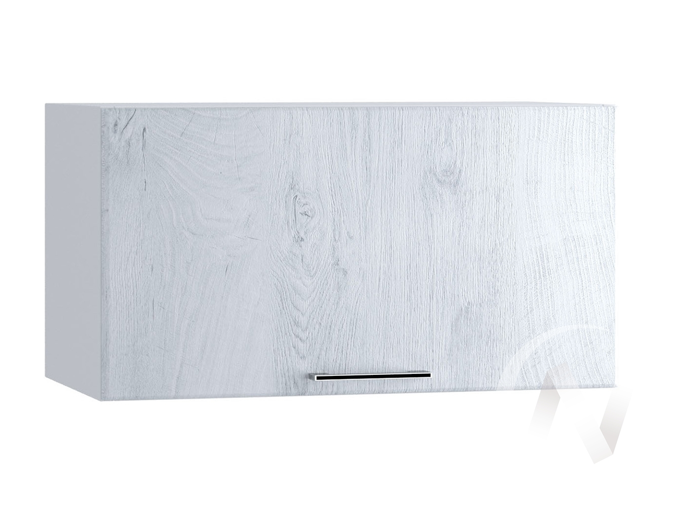 "Кухня ""Палермо"": Шкаф верхний горизонтальный 600, ШВГ 600 (Дуб остин серый/корпус белый)"