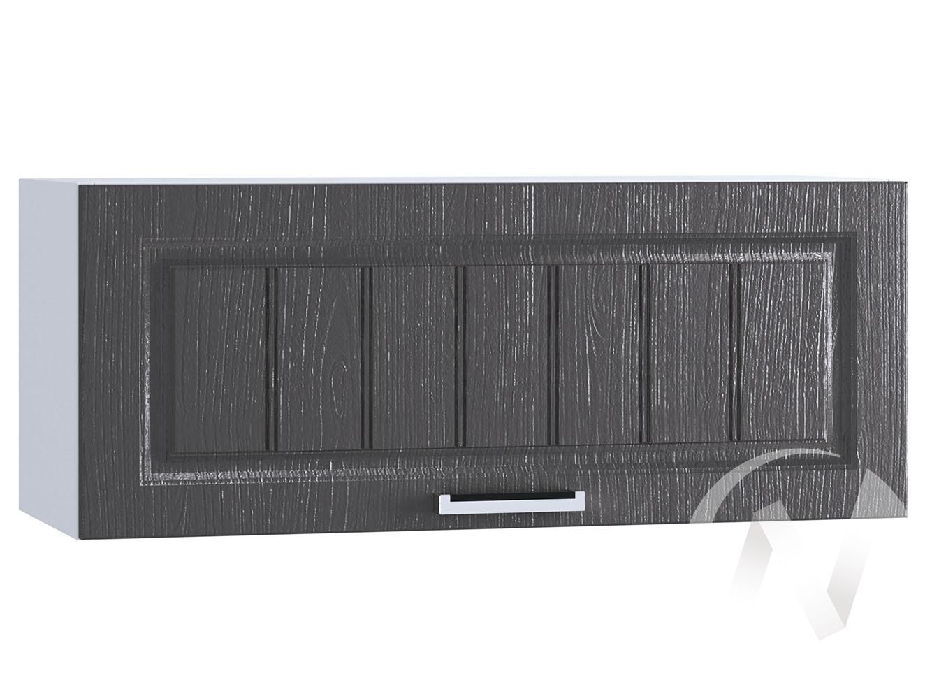 """Кухня """"Луксор"""": Шкаф верхний горизонтальный 800, ШВГ 800 (Клен серый/корпус белый)"""