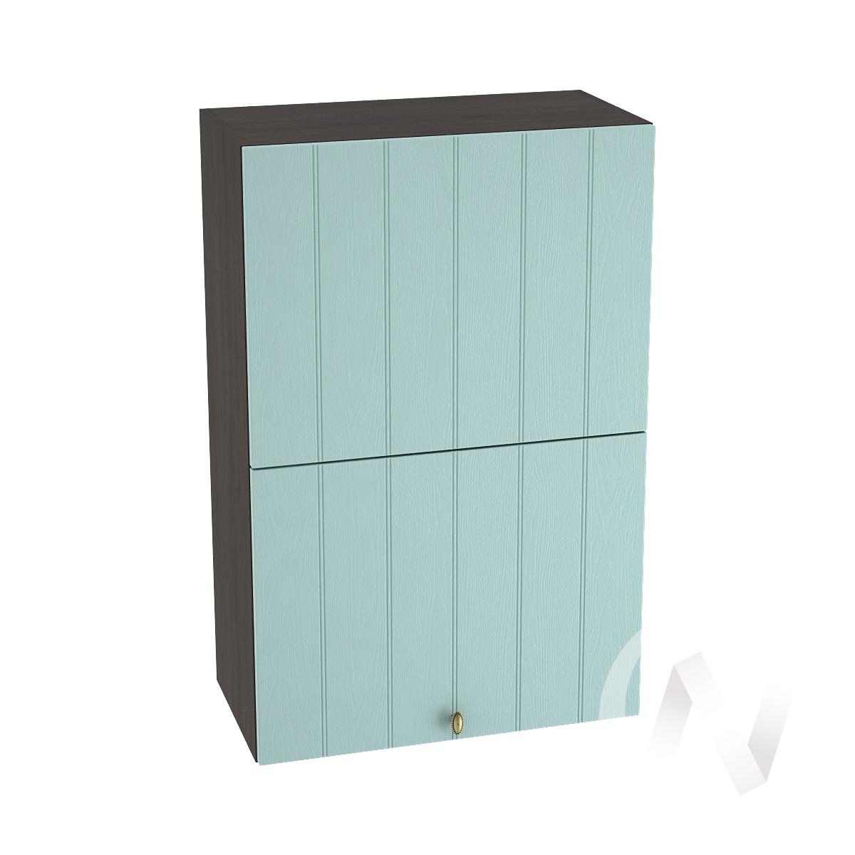 """Кухня """"Прованс"""": Шкаф верхний горизонтальный 602, ШВГ 602 (голубой/корпус венге)"""