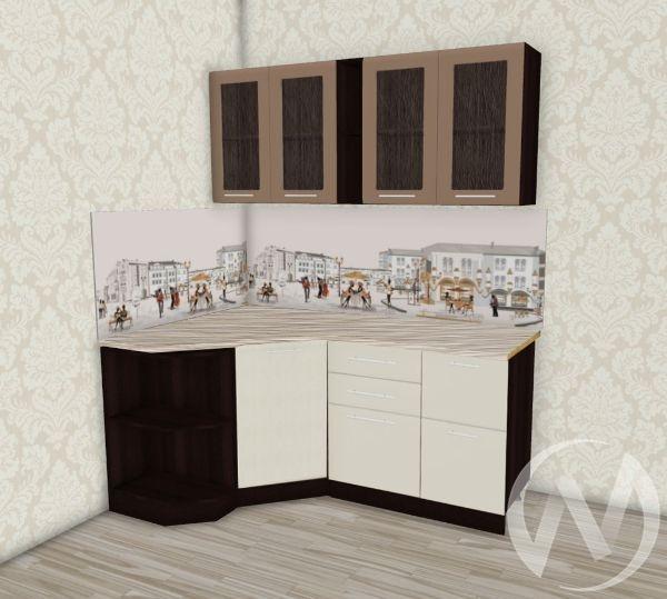Кухня Люкс шоколад матовый/шелк жемчуг угловая 1.2*1,8 №1