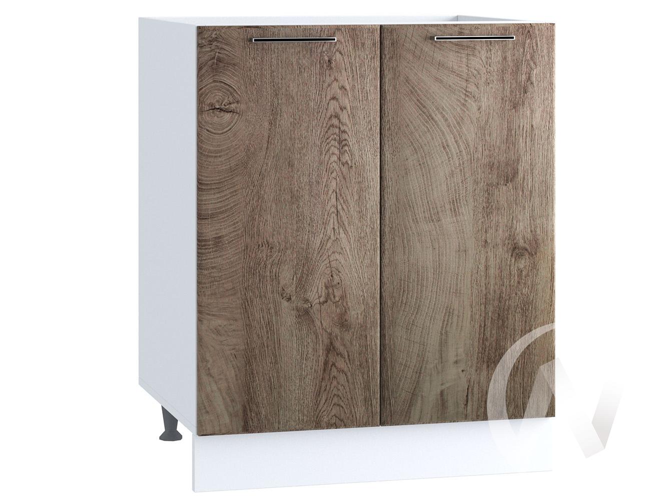 "Кухня ""Палермо"": Шкаф нижний под мойку 600, ШНМ 600 (Дуб остин беж/корпус белый)"