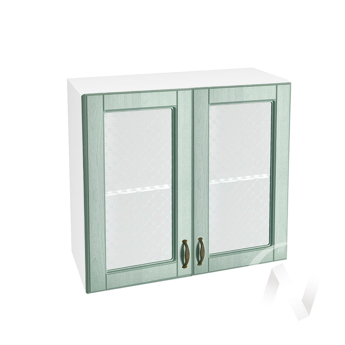 """Кухня """"Прованс"""": Шкаф верхний со стеклом 800, ШВС 800 новый (корпус белый)"""