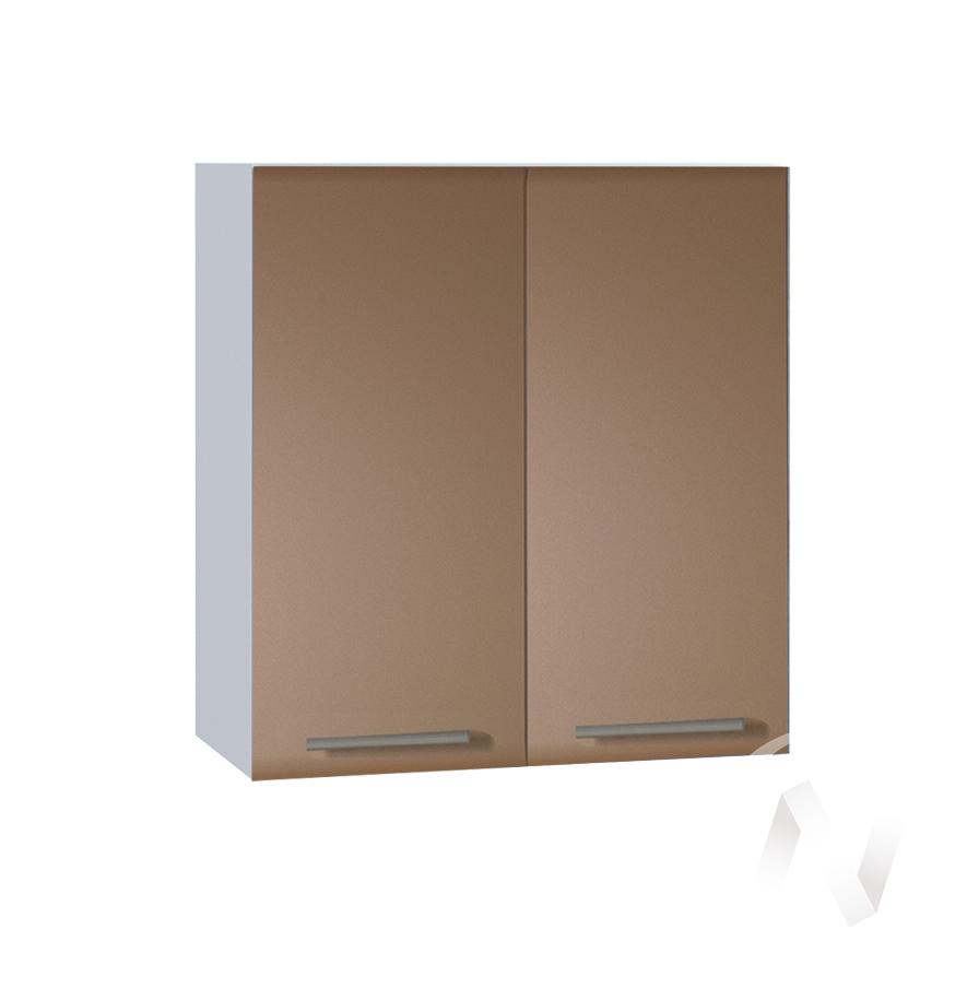 """Кухня """"Люкс"""": Шкаф верхний 600, ШВ 600 новый (Шоколад матовый/корпус белый)"""