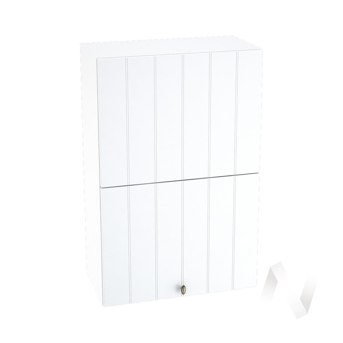 """Кухня """"Прованс"""": Шкаф верхний горизонтальный 602, ШВГ 602 (белое дерево/корпус белый)"""