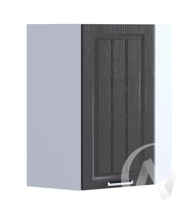 "Кухня ""Луксор"": Шкаф верхний угловой 599, ШВУ 599 (Клен серый/корпус белый)"