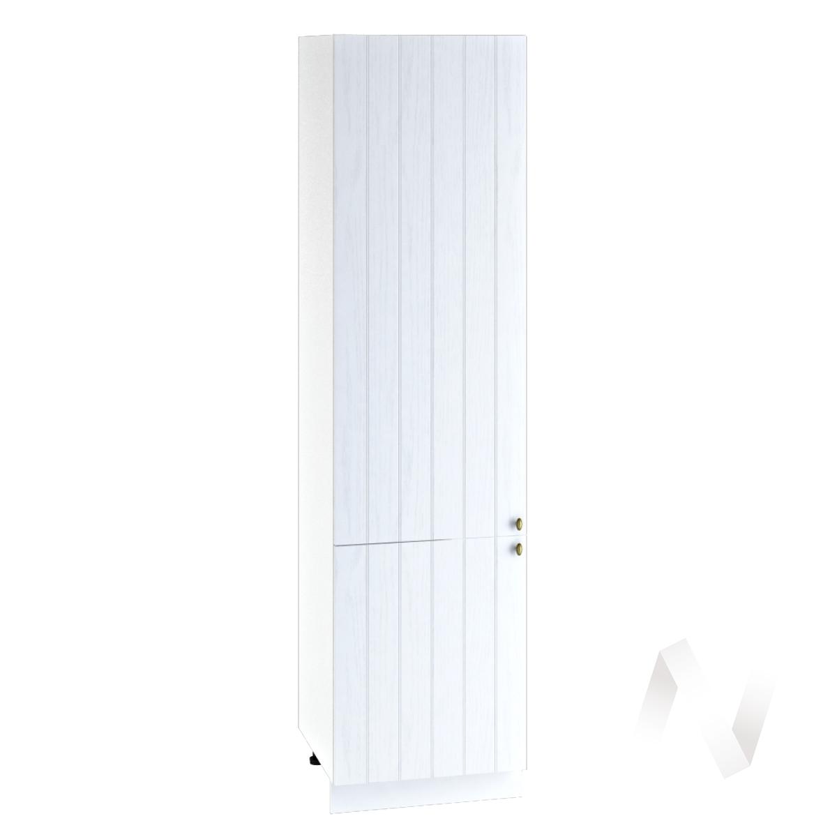 "Кухня ""Прованс"": Шкаф пенал 600, ШП 600НМ (белое дерево/корпус белый)"
