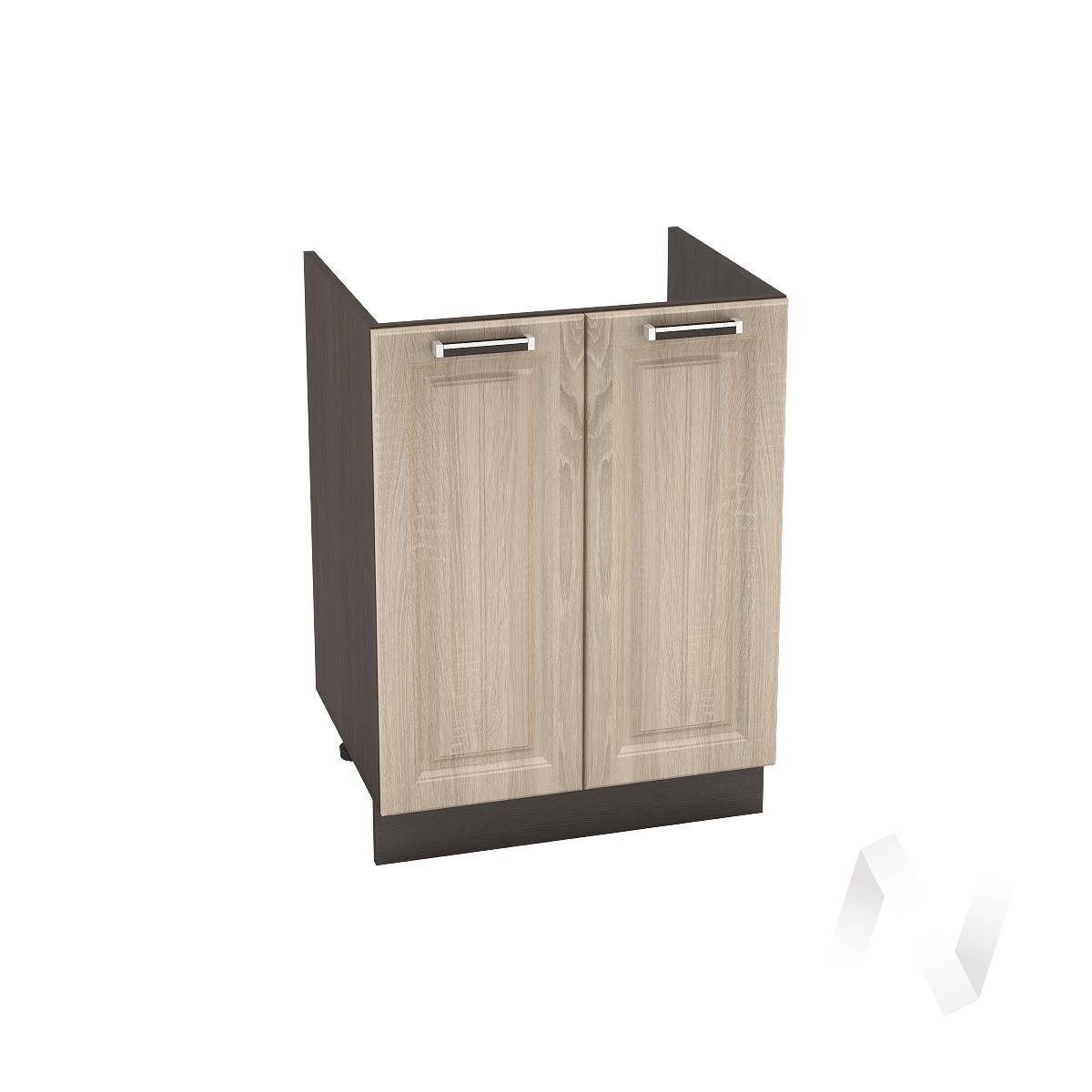 "Кухня ""Прага"": Шкаф нижний под мойку 600, ШНМ 600 новый (дуб сонома/корпус венге)"