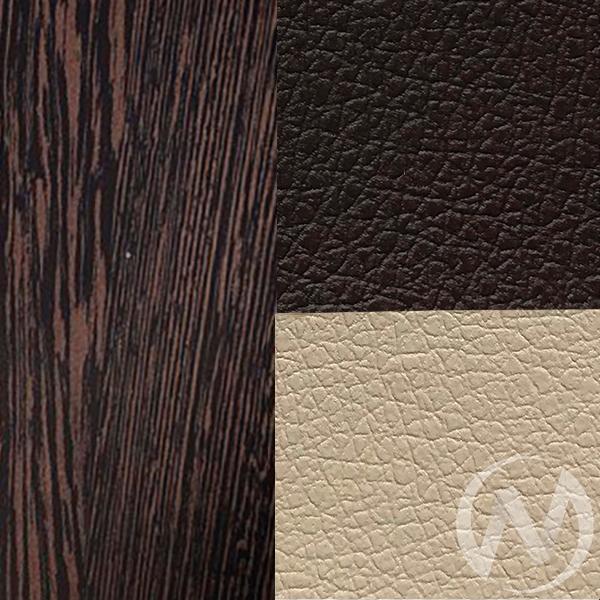 Скамья угловая Дельта кожзам (венге/коричневый,бежевый)  в Томске — интернет магазин МИРА-мебель
