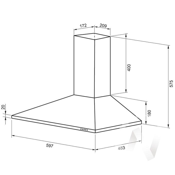 Купить вытяжки cornelia 600 inox pb в Иркутске в интернет магазине Мебель Максимум