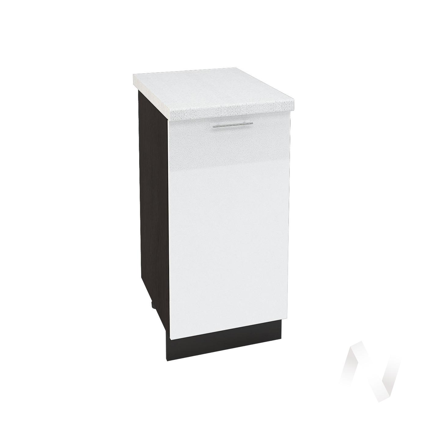 "Кухня ""Валерия-М"": Шкаф нижний 400, ШН 400 (белый глянец/корпус венге)"